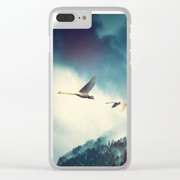 Winter Flight Clear iPhone Case