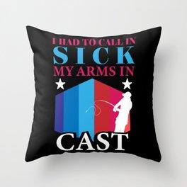 Sick Cast Throw Pillow