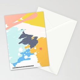 Funny Modern Art Poster Stationery Cards