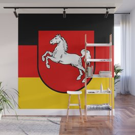 Flag of Niedersachsen (Lower Saxony) Wall Mural
