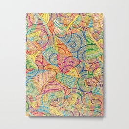 Colorful pattern (a little geometry) Metal Print