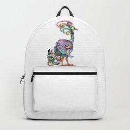 Pencil Sketch Bird Backpack