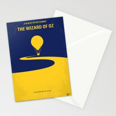 No177 My Wizard minimal movie poster OZ Stationery Cards