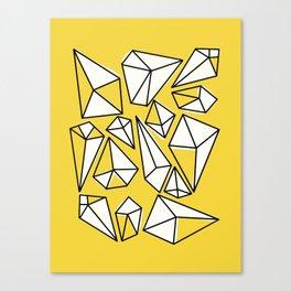 Shine Bright Like A Diamond   Yellow Canvas Print