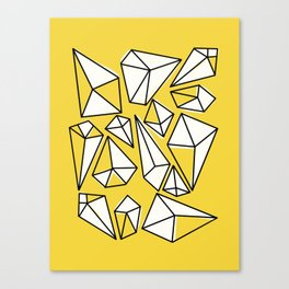 Shine Bright Like A Diamond | Yellow Canvas Print