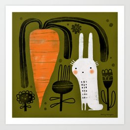 CARROT & RABBIT Art Print