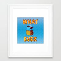 whatever Framed Art Prints featuring Whatever by ohzemesmo