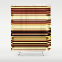 wooden Shower Curtains featuring Wooden revival. by John Medbury (LAZY J Studios)