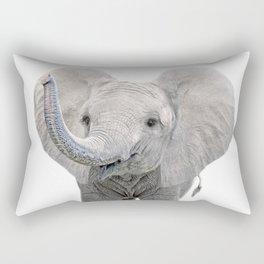Elephant Calf Art Rectangular Pillow
