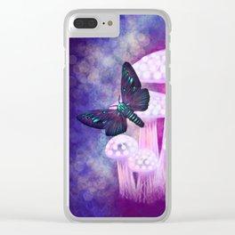 Twilight Moths Clear iPhone Case