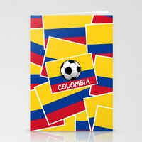 colombia Stationery Cards featuring Colombia Football by mailboxdisco