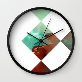 MARBLED ONYX & GEOMETRIC I Wall Clock