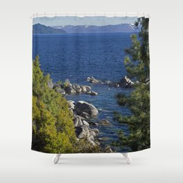 Trees + Tahoe Shower Curtain