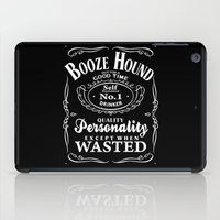 the hound iPad Cases featuring Booze Hound by R-evolution GFX