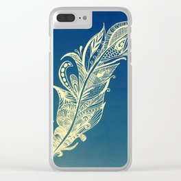 Feather zentagle Clear iPhone Case
