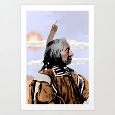 Chief Red Cloud. Oglala Lakota. 1898 COLOR - 026c Art Print