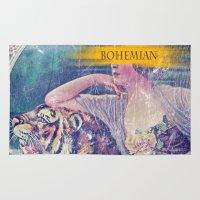 bohemian Area & Throw Rugs featuring Bohemian by PixelFarmer
