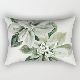 Sedum Succulents Rectangular Pillow