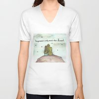 happiness V-neck T-shirts featuring Happiness  by Maria Durgarian