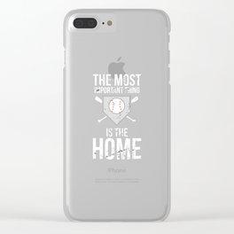 Base Baseball Bat Pitcher Home Run Clear iPhone Case