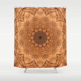 Wooden Flower Ring kaleidoscope Shower Curtain