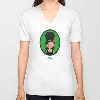 amy hamilton V-neck T-shirts featuring Amy by Juliana Motzko