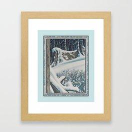 WINTER'S LAST FIREWOOD VINTAGE OIL PAINTING Framed Art Print