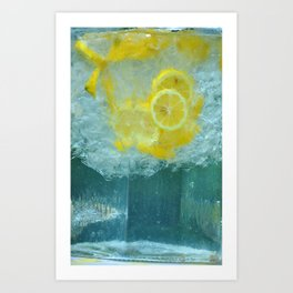 Lemon Water Art Print