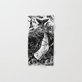 Moby Dick Wood Cut Hand & Bath Towel