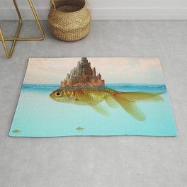 Goldfish Castle Island Rug