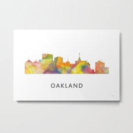 Oakland, California Skyline WB1 Metal Print