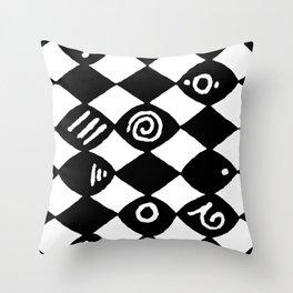 Jazz Harlequin Throw Pillow