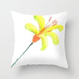 flor de cítrico Throw Pillow