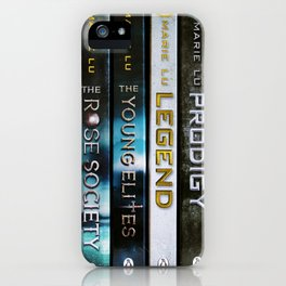 Marie Lu Book Spines iPhone Case