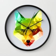 Glass Animal - FOX head Wall Clock