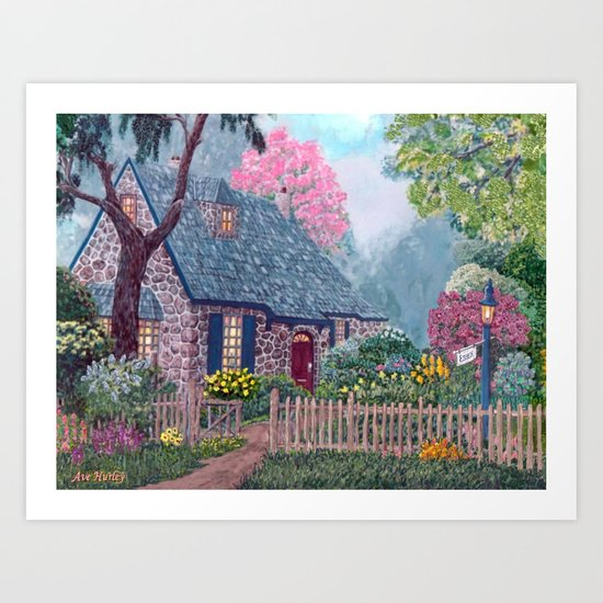 Essex House Cottage by Ave Hurley Art Print