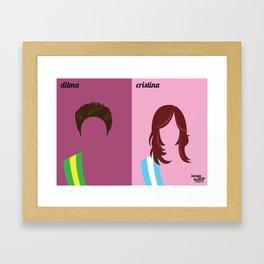 Dilma x Cristina Framed Art Print