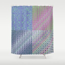 """9,534,358 + (Cos(x(-1))+x) × 949,456 [""""70s Pattern""""] Shower Curtain"""