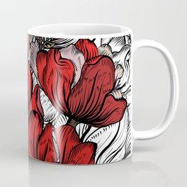 RED PEONIES PATTERN Coffee Mug