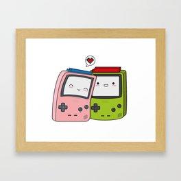 Game Boy love Framed Art Print