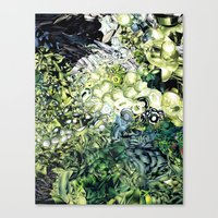 green lantern Canvas Prints featuring Green Lantern  by MelissaMoffatCollage