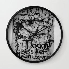 Kiss her flesh expire  Wall Clock