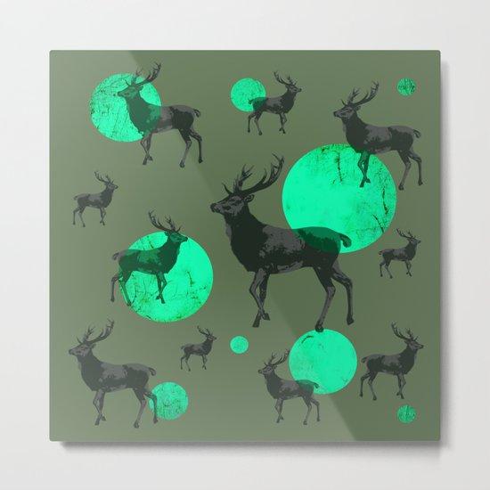 Dear deers - color option Metal Print