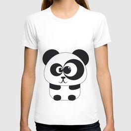 Cute Panda Illustration T-shirt