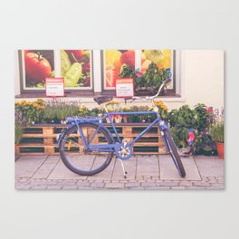 Market Bicycle Canvas Print