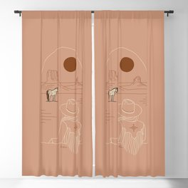Lost Pony - Pink Clay Blackout Curtain