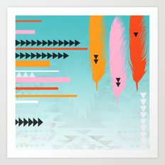 Tribal Feather  Art Print