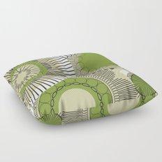 Kiwi flowers Floor Pillow