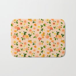 Apricot Rose in Peach Sorbet Bath Mat