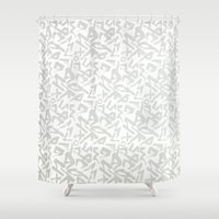calligraphy Shower Curtains featuring Calligraphy  by Johs